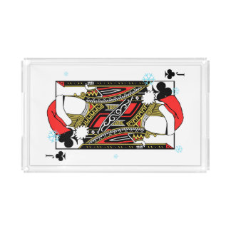 Merry Christmas Jack of Clubs - Add Your Images Acrylic Tray