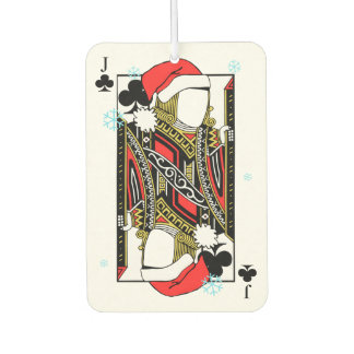 Merry Christmas Jack of Clubs - Add Your Images Car Air Freshener