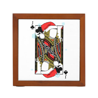 Merry Christmas Jack of Clubs - Add Your Images Desk Organizer