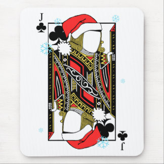 Merry Christmas Jack of Clubs - Add Your Images Mouse Pad