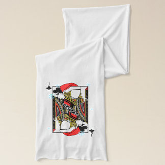 Merry Christmas Jack of Clubs - Add Your Images Scarf