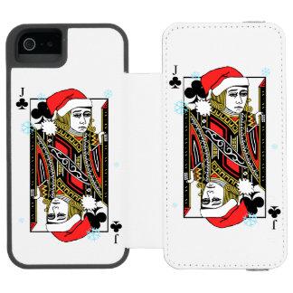 Merry Christmas Jack of Clubs Incipio Watson™ iPhone 5 Wallet Case