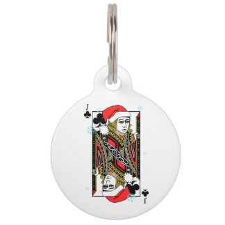 Merry Christmas Jack of Clubs Pet Tag