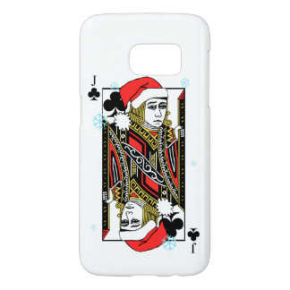 Merry Christmas Jack of Clubs Samsung Galaxy S7 Case