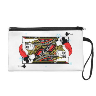 Merry Christmas Jack of Clubs Wristlet