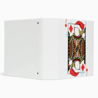 Merry Christmas Jack of Diamonds - Add Your Images 3 Ring Binders