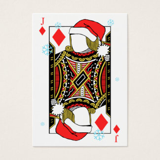 Merry Christmas Jack of Diamonds - Add Your Images Business Card