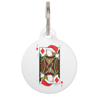 Merry Christmas Jack of Diamonds - Add Your Images Pet ID Tag