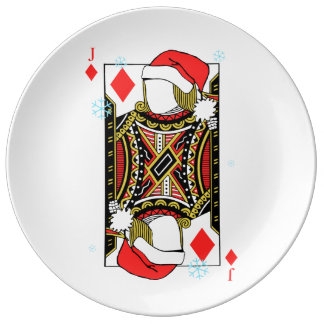 Merry Christmas Jack of Diamonds - Add Your Images Porcelain Plates