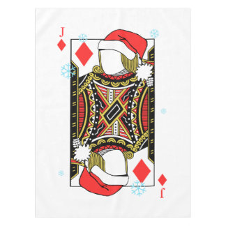 Merry Christmas Jack of Diamonds - Add Your Images Tablecloth