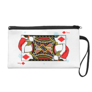 Merry Christmas Jack of Diamonds - Add Your Images Wristlet