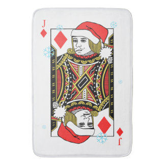 Merry Christmas Jack of Diamonds Bath Mat