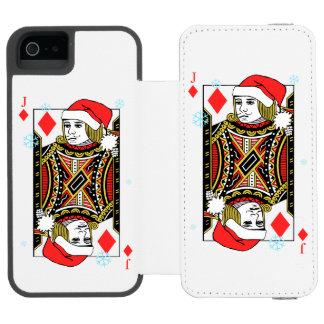 Merry Christmas Jack of Diamonds Incipio Watson™ iPhone 5 Wallet Case