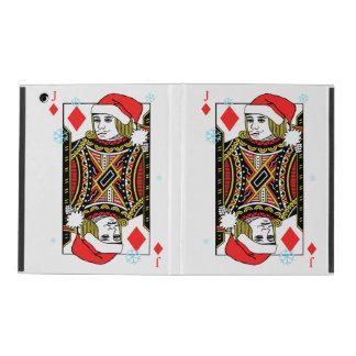 Merry Christmas Jack of Diamonds iPad Case