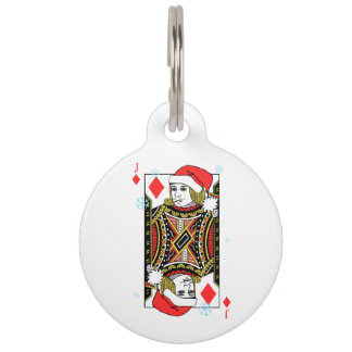 Merry Christmas Jack of Diamonds Pet Tag