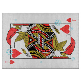 Merry Christmas Jack of Hearts - Add Your Images Cutting Board