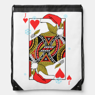 Merry Christmas Jack of Hearts - Add Your Images Drawstring Bag