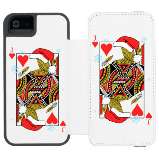 Merry Christmas Jack of Hearts - Add Your Images Incipio Watson™ iPhone 5 Wallet Case