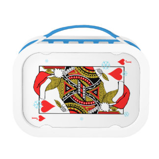 Merry Christmas Jack of Hearts - Add Your Images Lunch Box