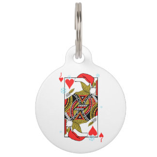 Merry Christmas Jack of Hearts - Add Your Images Pet Tag