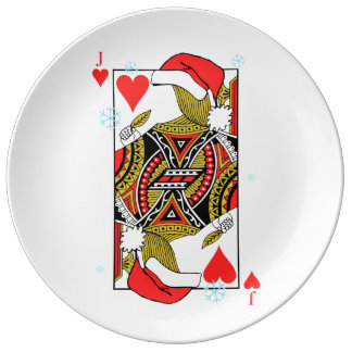 Merry Christmas Jack of Hearts - Add Your Images Porcelain Plates