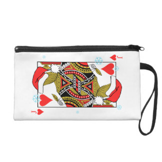 Merry Christmas Jack of Hearts - Add Your Images Wristlet