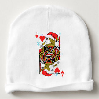 Merry Christmas Jack of Hearts Baby Beanie