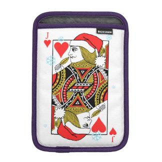 Merry Christmas Jack of Hearts iPad Mini Sleeve