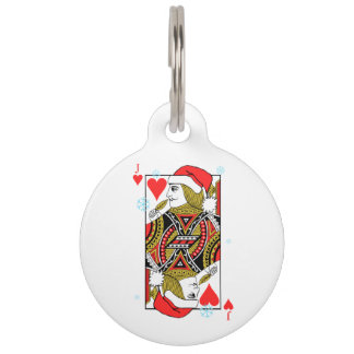 Merry Christmas Jack of Hearts Pet ID Tag