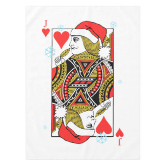 Merry Christmas Jack of Hearts Tablecloth