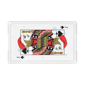 Merry Christmas Jack of Spades Acrylic Tray