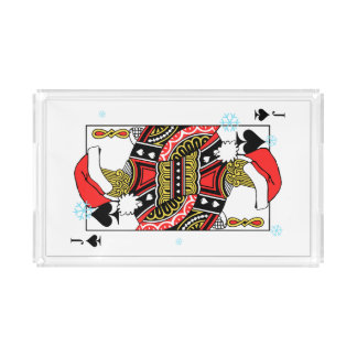 Merry Christmas Jack of Spades - Add Your Images Acrylic Tray