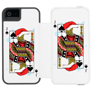 Merry Christmas Jack of Spades - Add Your Images Incipio Watson™ iPhone 5 Wallet Case