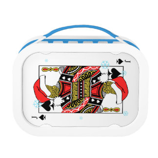 Merry Christmas Jack of Spades - Add Your Images Lunch Box