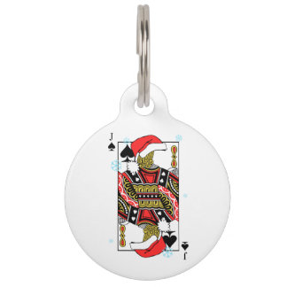 Merry Christmas Jack of Spades - Add Your Images Pet Tag