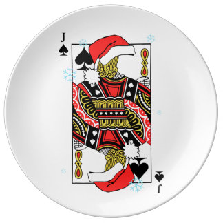 Merry Christmas Jack of Spades - Add Your Images Porcelain Plates