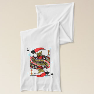 Merry Christmas Jack of Spades - Add Your Images Scarf