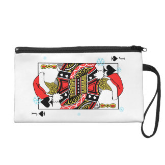 Merry Christmas Jack of Spades - Add Your Images Wristlet
