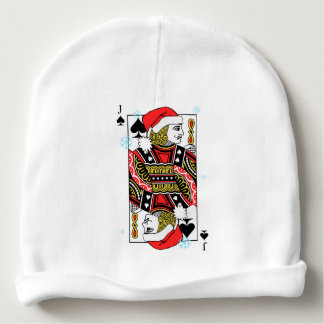 Merry Christmas Jack of Spades Baby Beanie