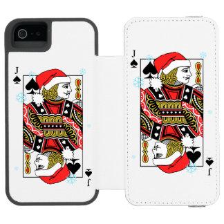 Merry Christmas Jack of Spades Incipio Watson™ iPhone 5 Wallet Case