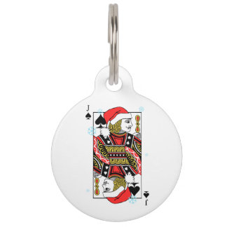 Merry Christmas Jack of Spades Pet Name Tag