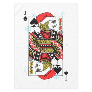 Merry Christmas Jack of Spades Tablecloth