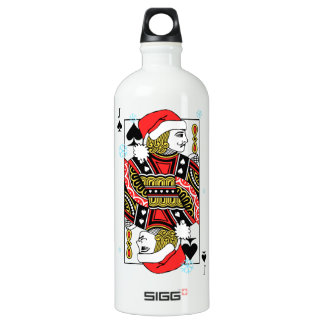Merry Christmas Jack of Spades Water Bottle
