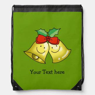 Merry Christmas jingle bells - personalized Drawstring Bag
