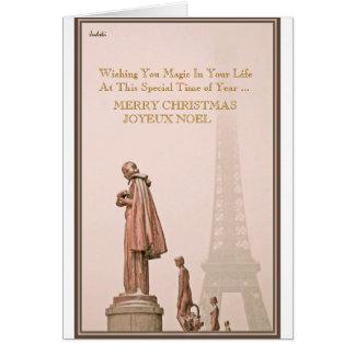 MERRY CHRISTMAS   JOYEUX NOEL  ... CARD