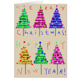 Merry Christmas Kids Art Christmas Cards