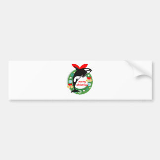 merry christmas killer whale bumper sticker