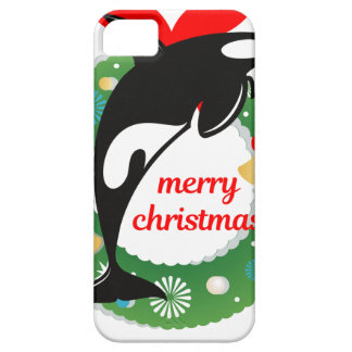 merry christmas killer whale iPhone 5 covers