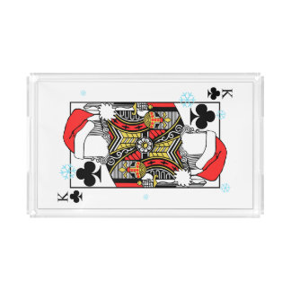 Merry Christmas King of Clubs - Add Your Images Acrylic Tray