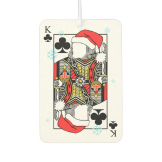 Merry Christmas King of Clubs - Add Your Images Car Air Freshener